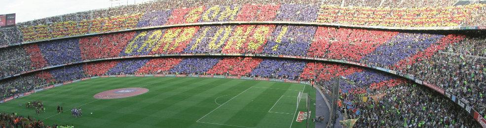 Panoramique du Camp Nou, le stade du FC Barcelone