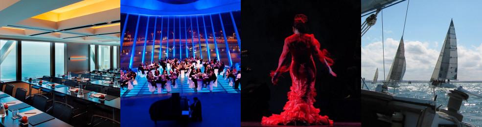 Salle de réunion / Dîner de gala / Spectacle de Flamenco / Régate