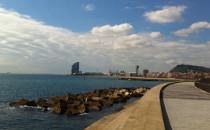 Panoramique du port et de Montjuïc