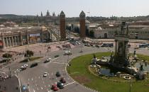 Le MNAC et le parc des expositions de Montjuïc