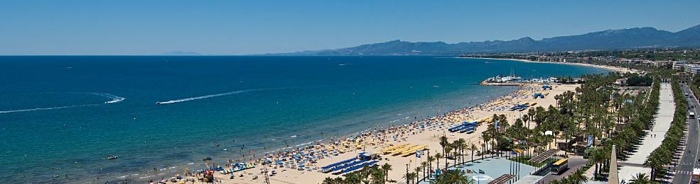 Panoramique de la plage de Llevant à Salou