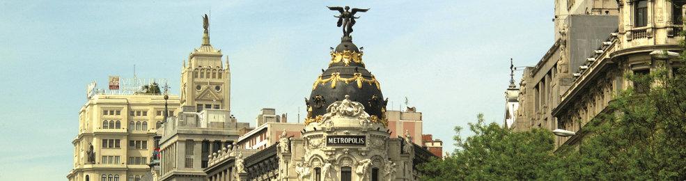 L'immeuble Metropolis sur la Gran Vía de Madrid