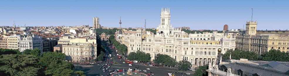 Panoramique du centre de Madrid