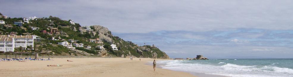 La plage de sable fin de Atlanterra