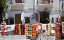 Vente de jarapas à Pampaneira
